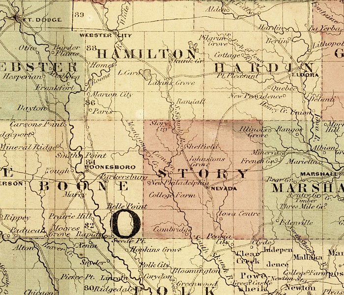 1862 map of Story County
