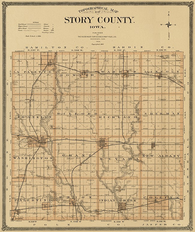 1902 map of Story County - click to enlarge