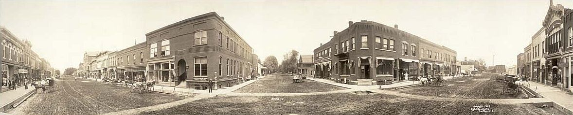 Ames Downtown in            1907 - click to enlarge