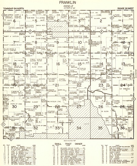 1967 map of Franklin Township - click to enlarge