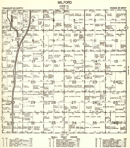 1967 map of Milford Township - click to enlarge