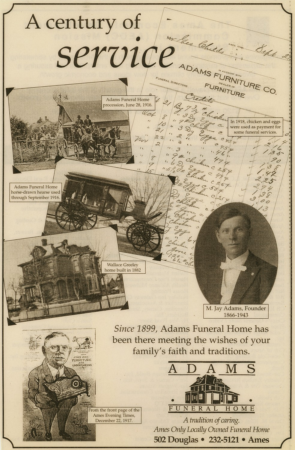 Adams Funeral Home   Ames History Museum