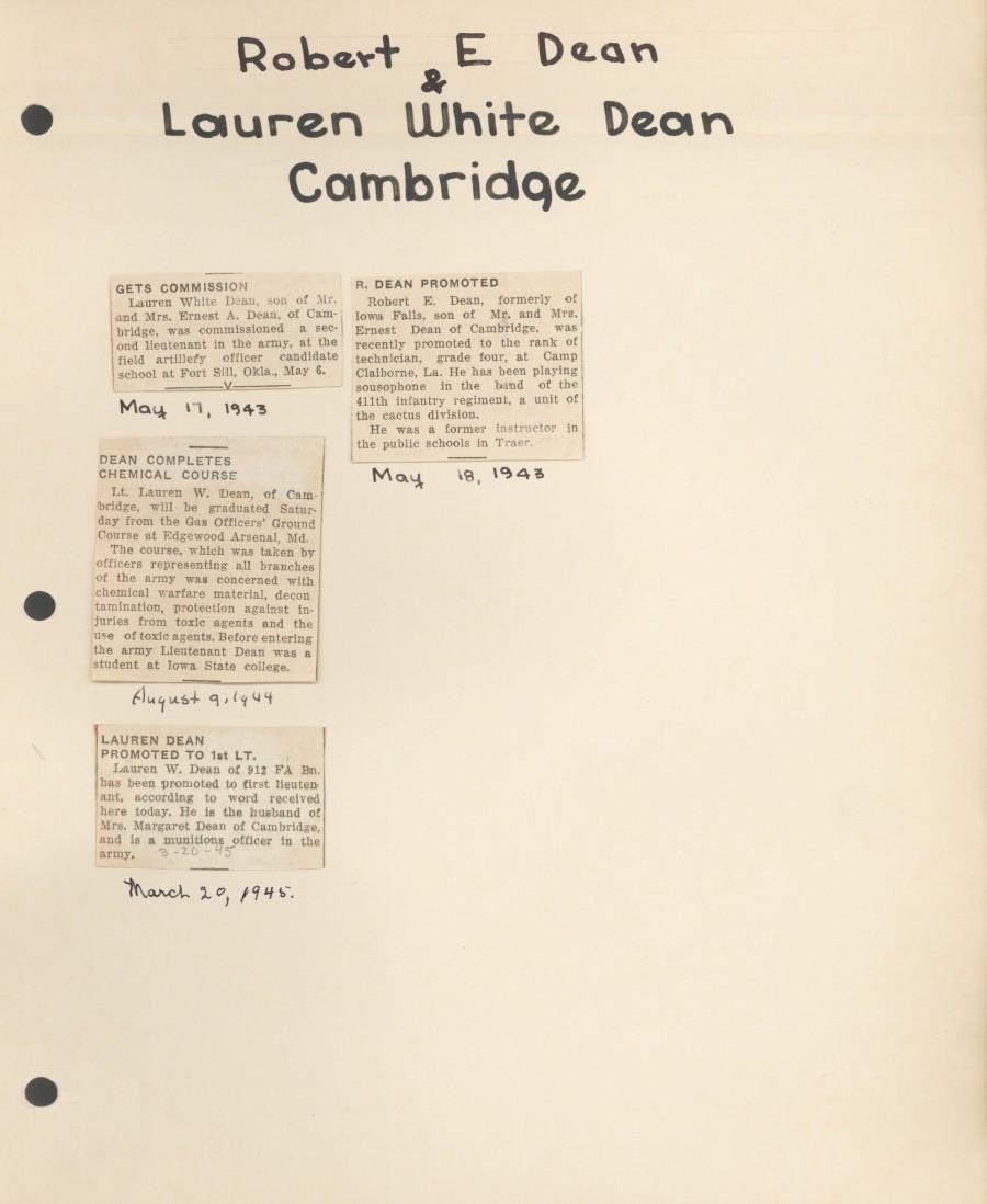 Robert E  Dean | Ames Historical Society