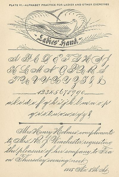 penmanship flourishes - click to enlarge