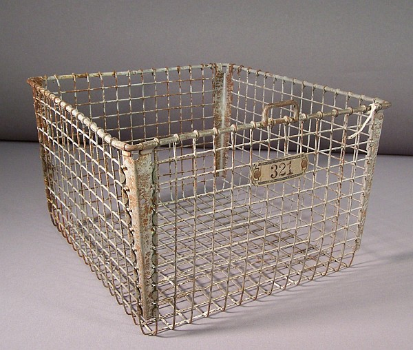 Mystery Item Wire Basket Ames Historical Society